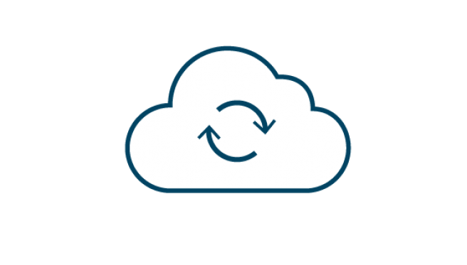 DRaaS business continuity icon
